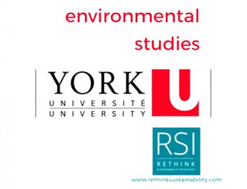 York University Environmental Studies 2016